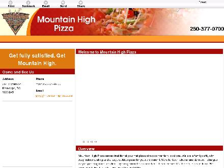 Mountain High Pizza (250-377-0700) - Onglet de site Web - http://www.mountainhighpizza.ca