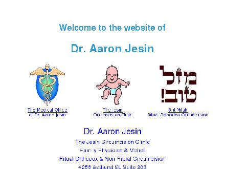 Jesin Aaron Physician & Mohel (416-635-5012) - Website thumbnail - http://www.drjesin.com
