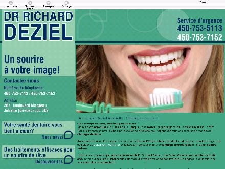 D&eacute;ziel Richard Dr (450-753-5113) - Onglet de site Web - http://chirurgiendentistejoliette.ca/