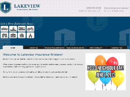 Lakeview Insurance Brokers Ltd (204-453-0106) - Onglet de site Web - http://www.lakeviewinsurance.com