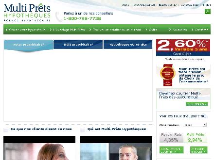 Multi-Prêts Hypothèques (418-622-7685) - Website thumbnail - http://www.multiprets.ca
