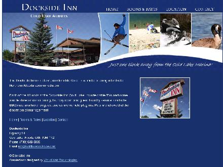 Dockside Inn (780-639-3030) - Onglet de site Web - http://www.coldlakedockside.com