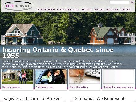 F H Rowat Insurance (613-747-9737) - Website thumbnail - http://www.fhrowat.com