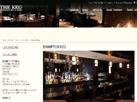 Keg Steakhouse & Bar (905-456-3733) - Onglet de site Web - http://www.kegsteakhouse.com/en/locations/ON/brampton/brampton-keg/