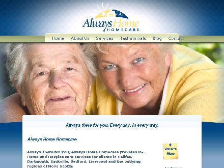 Always Home Homecare (902-405-4400) - Onglet de site Web - http://www.alwayshomecare.ca