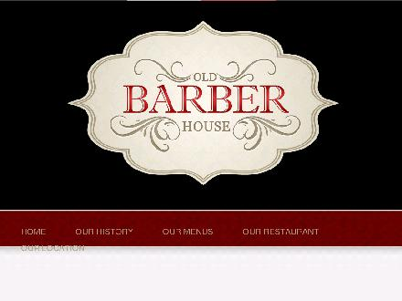 Barber House Restaurant (289-814-4936) - Website thumbnail - http://www.oldbarberhouse.com