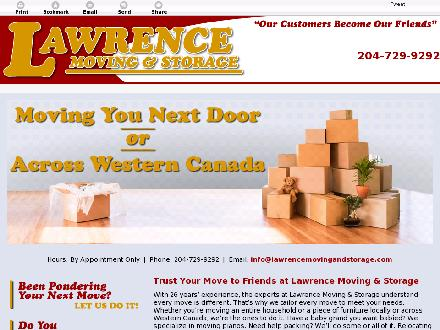 Lawrence Moving & Storage (204-729-9292) - Website thumbnail - http://lawrencemovingandstorage.com/