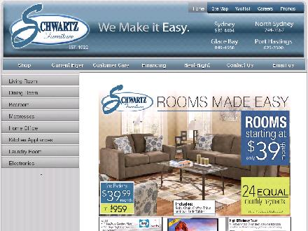 Schwartz Furniture (902-539-4404) - Website thumbnail - http://www.schwartzfurniture.com