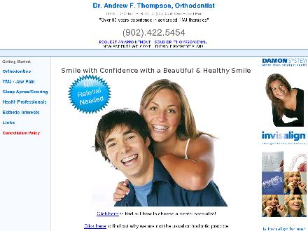 Thompson Andrew Dr Orthodontist (902-422-5454) - Website thumbnail - http://www.drthompson.ca