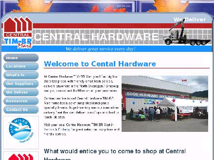 Central Hardware Ltd (250-545-2333) - Onglet de site Web - http://www.centralhardwareltd.ca