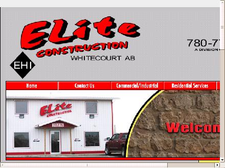Elite Construction (780-778-6975) - Website thumbnail - http://www.elitewct.com