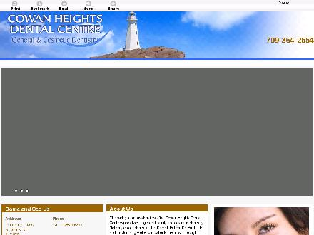Cowan Heights Dental Centre (709-364-2654) - Website thumbnail - http://cowanheightsdental.com/