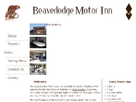 Beaverlodge Motor Inn (780-354-2291) - Website thumbnail - http://www.beaverlodgemotorinn.com