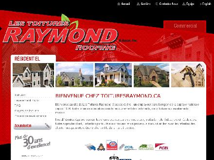 A Raymond &amp; Associates Roofing Inc (613-233-4833) - Onglet de site Web - http://www.toituresraymond.ca