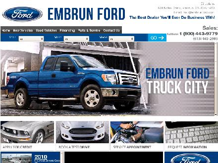 Embrun Ford Sales Ltd (613-443-2985) - Onglet de site Web - http://www.embrunford.com