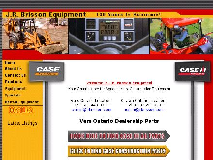 Brisson J R Equipment Ltd (613-443-3300) - Onglet de site Web - http://www.jrbrisson.com