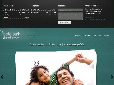 Polo Park Dental Centre (204-774-2521) - Website thumbnail - http://www.poloparkdental.com