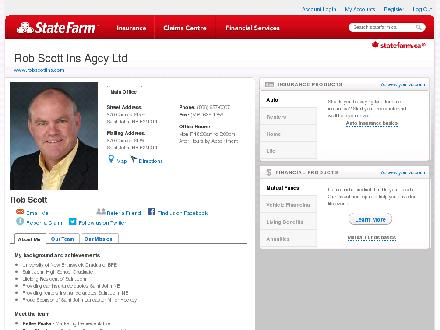 Scott Rob Insurance Agency Ltd-State Farm (506-657-0007) - Website thumbnail - http://www.robscottins.com