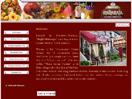 Buffet Maharaja (514-934-0655) - Website thumbnail - http://www.buffetmaharaja.com