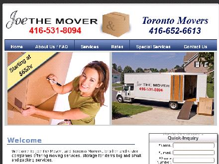 Joe The Mover (416-531-8094) - Onglet de site Web - http://www.joethemover.ca