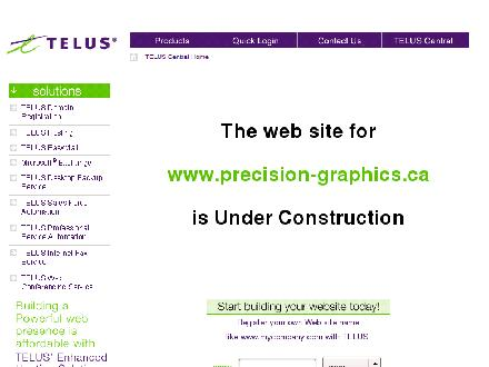 Precision Graphics (403-720-2272) - Onglet de site Web - http://www.precision-graphics.ca