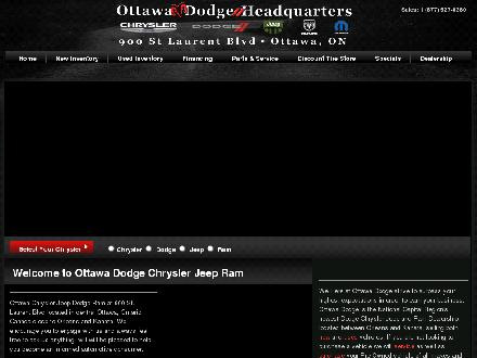 Ottawa Chrysler Jeep Dodge Inc (613-745-7051) - Onglet de site Web - http://www.ottawachryslerjeep.com