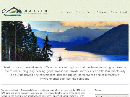 Marlim Ecological Consulting Ltd (604-531-4338) - Website thumbnail - http://www.marlimecological.com