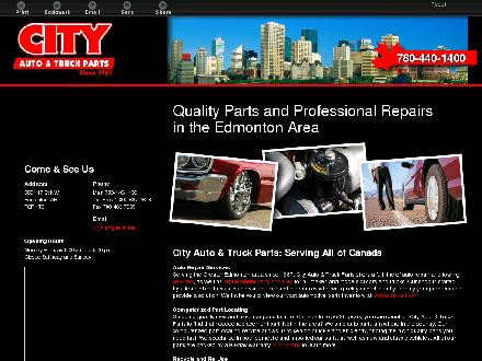 City Auto &amp; Truck Parts (1987) Ltd (780-440-1400) - Onglet de site Web - http://www.cityauto.ca
