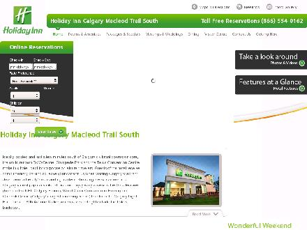 Holiday Inn Calgary-MacLeod Trail South (403-287-2700) - Website thumbnail - http://www.hihotelcalgary.ca