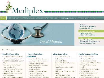 Vein Clinic The (902-863-3291) - Onglet de site Web - http://www.Mediplex.ca