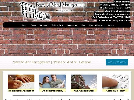 Peace Of Mind Management (506-672-1094) - Onglet de site Web - http://www.pomm.ca