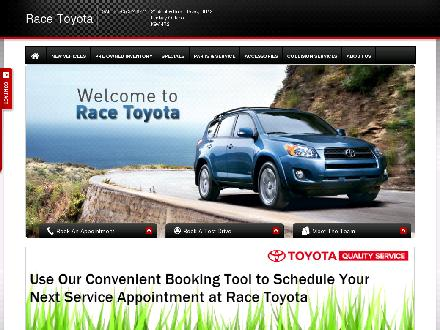 Race Toyota (1-877-348-6493) - Website thumbnail - http://www.racetoyota.ca