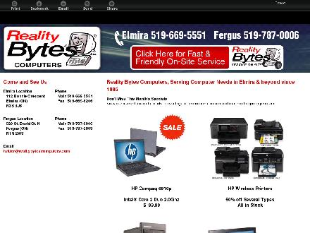 Reality Bytes Inc (519-787-0006) - Website thumbnail - http://reality669.com/