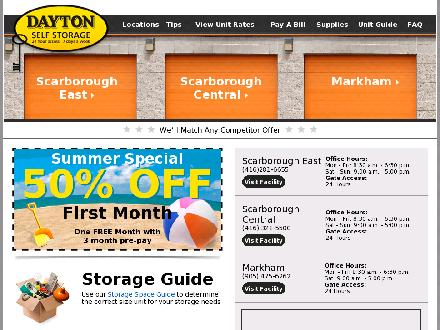 Dayton Self Storage (416-321-5500) - Website thumbnail - http://www.daytonselfstorage.com