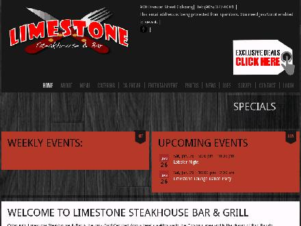 Limestone Steakhouse & Bar (1-877-252-6880) - Website thumbnail - http://www.limestonesteakhouse.ca