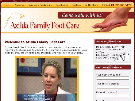 Azilda Family Foot Care (705-983-5035) - Website thumbnail - http://www.azildafamilyfootcare.com