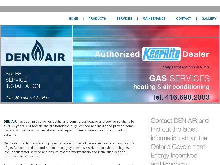 Den-Air Gas Services (416-690-2083) - Onglet de site Web - http://www.denair.ca