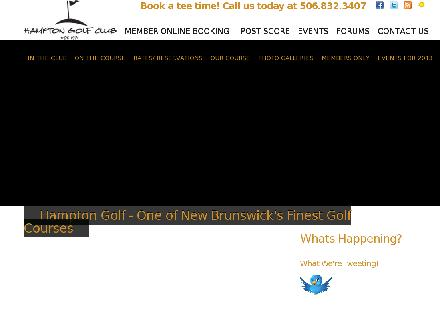 Hampton Golf Club Ltd (506-832-5045) - Website thumbnail - http://www.hamptongolf.ca
