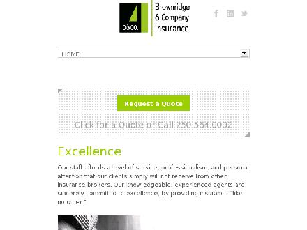 Brownridge & Company Insurance Services Inc (250-564-0002) - Website thumbnail - http://www.brownridgeinsurance.com