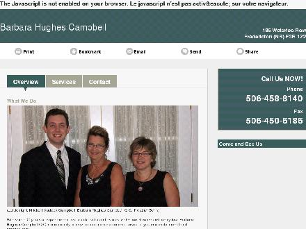 Campbell Barbara Hughes (506-458-8140) - Website thumbnail - http://barbarahughescampbell.com