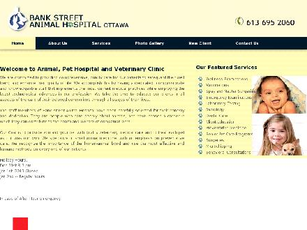 Bank St Animal Hospital (613-695-2060) - Onglet de site Web - http://bankstreetanimalhospital.com