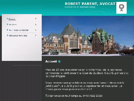Parent Robert (418-522-2020) - Onglet de site Web - http://www.avocatrobertparent.com