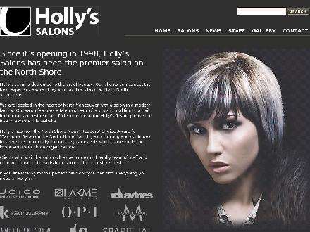 Holly's Hairdressing Salon (604-904-9141) - Onglet de site Web - http://www.hollyshair.com