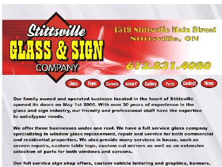 Stittsville Glass & Sign (613-831-4080) - Website thumbnail - http://www.stittsvillesigns.com