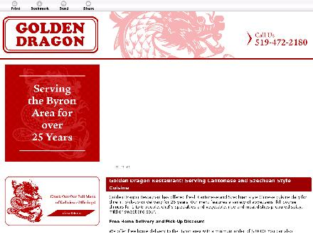 Golden Dragon Restaurant (519-472-2180) - Onglet de site Web - http://goldendragonrestaurant.co