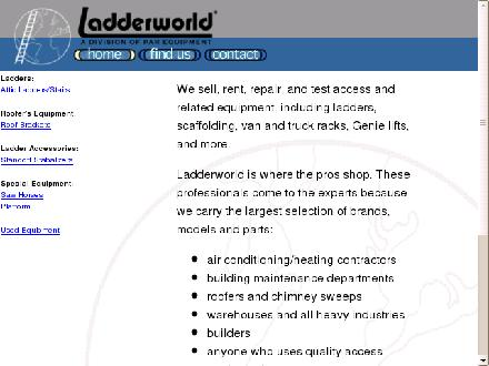 Ladderworld (204-632-6391) - Website thumbnail - http://www.ladderworld.com