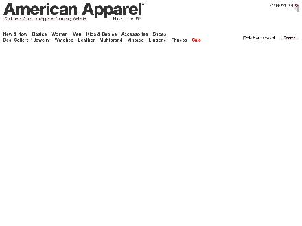 Americanapparel.ca - Onglet de site Web - http://www.americanapparel.ca