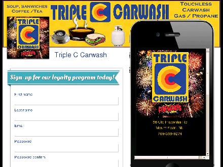 Triple C Car Wash (709-368-9274) - Website thumbnail - http://www.checkinreward.com/triplec