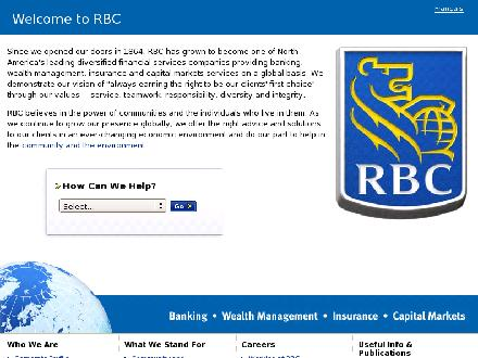 RBC Royal Bank (204-988-5870) - Onglet de site Web - http://www.rbc.com