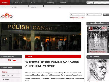 Polish Canadian Cultural Centre (403-291-3757) - Website thumbnail - http://www.polishcentre.ca